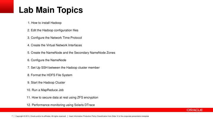 Lab Main Topics