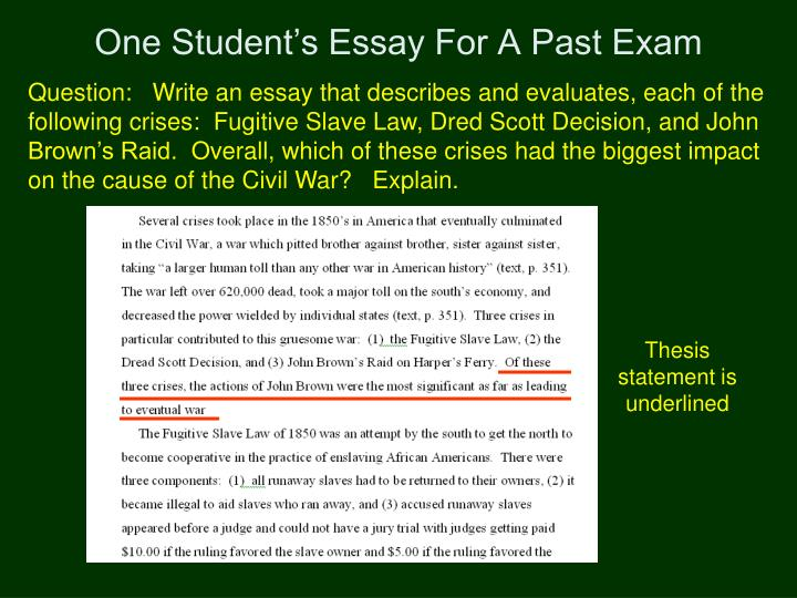 dred scott thesis statement Slavery term papers (paper 16046) on the dredd scott decision : introduction united states supreme court case scott v sanford (1857), commonly known as the dred scott case, is probably the most famous term paper 16046.