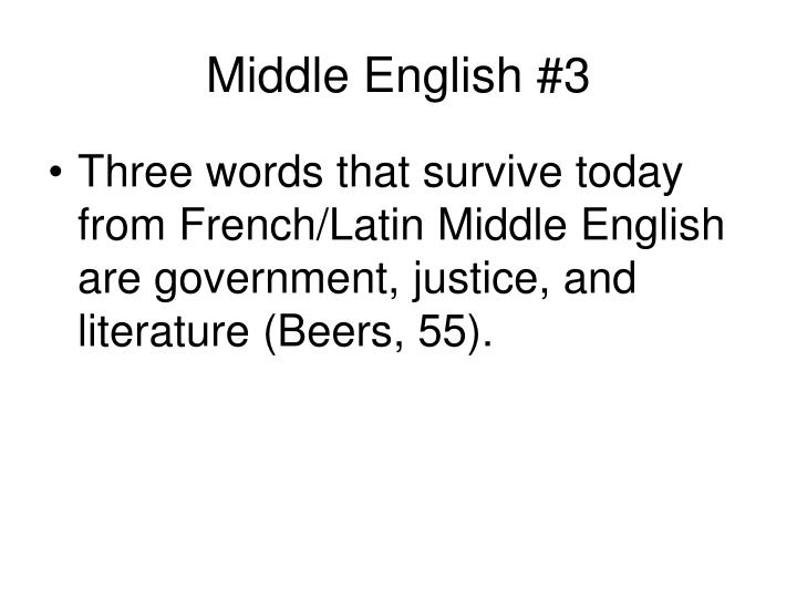 Middle English #3
