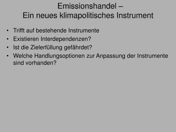 Emissionshandel –