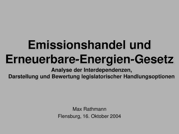 Emissionshandel und
