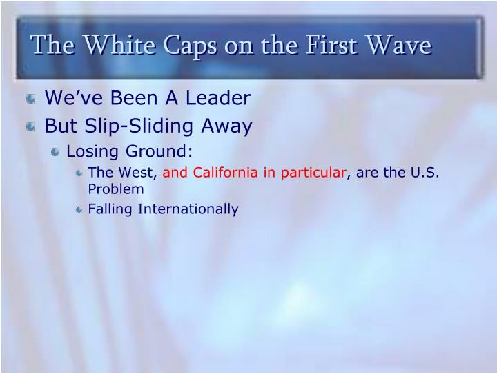 The White Caps on the First Wave