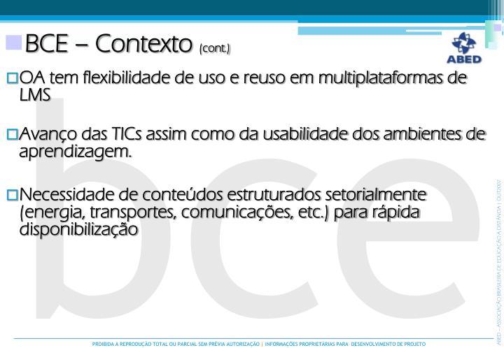 BCE – Contexto
