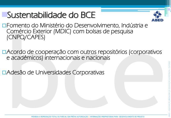 Sustentabilidade do BCE