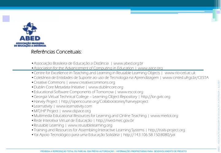 Referências Conceituais: