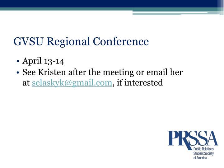 GVSU Regional Conference