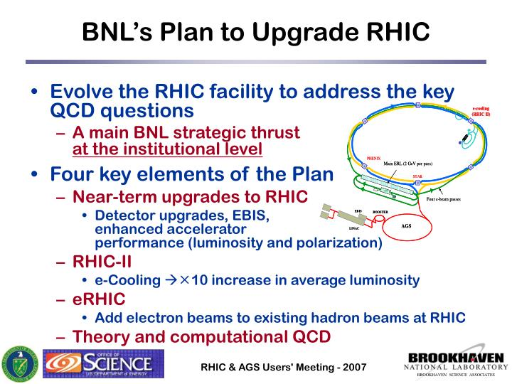 BNL's Plan to Upgrade RHIC