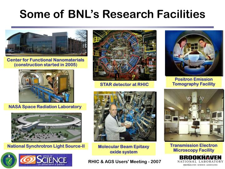 Some of BNL's Research Facilities