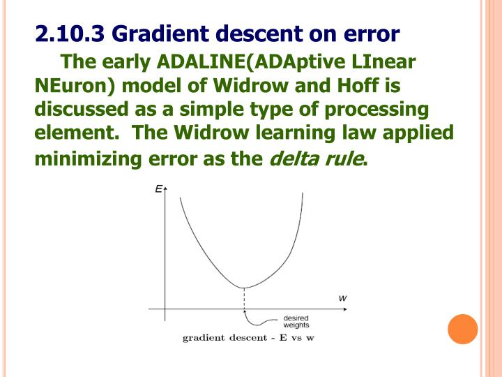 2.10.3 Gradient descent on error