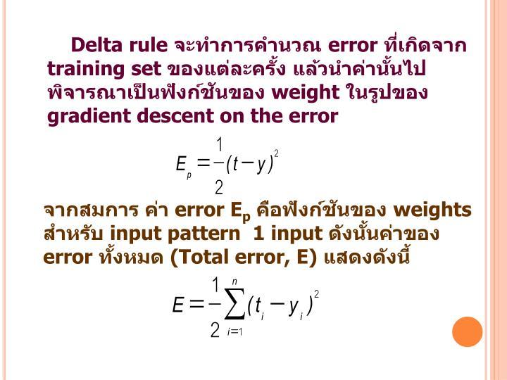 Delta rule
