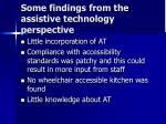 some findings from the assistive technology perspective