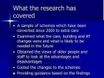 what the research has covered1