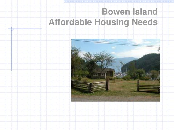 Bowen island affordable housing needs
