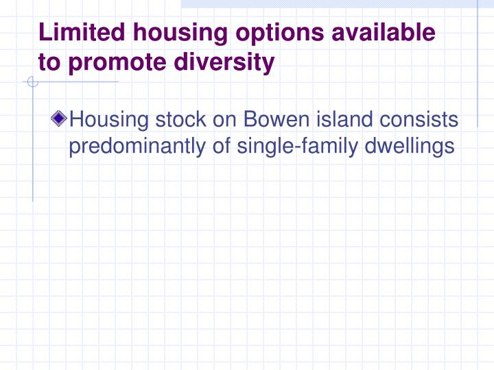 Limited housing options
