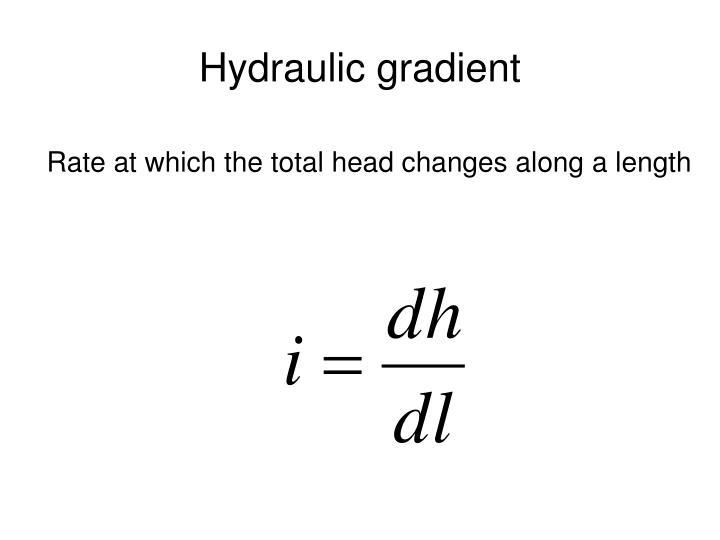 Hydraulic gradient