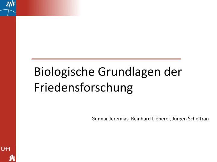 Biologische Grundlagen der