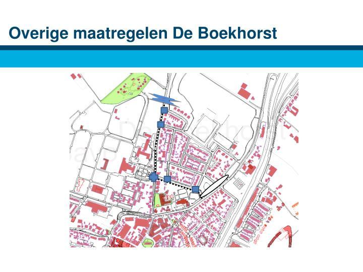 Overige maatregelen De Boekhorst