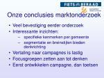 onze conclusies marktonderzoek