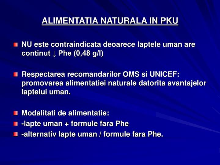 ALIMENTATIA NATURALA IN PKU