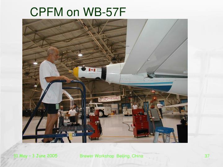 CPFM on WB-57F