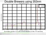 double brewers using 353nm