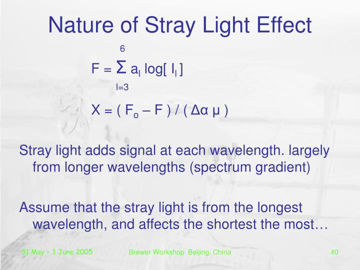 Nature of Stray Light Effect