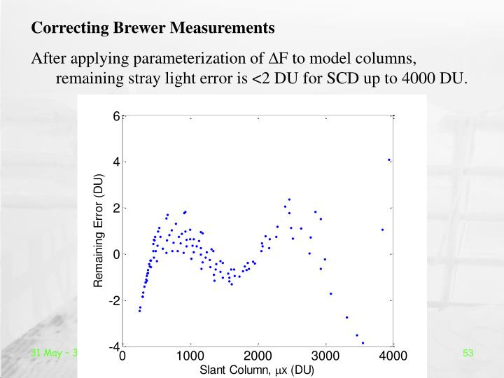 Correcting Brewer Measurements