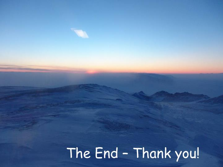The End – Thank you!