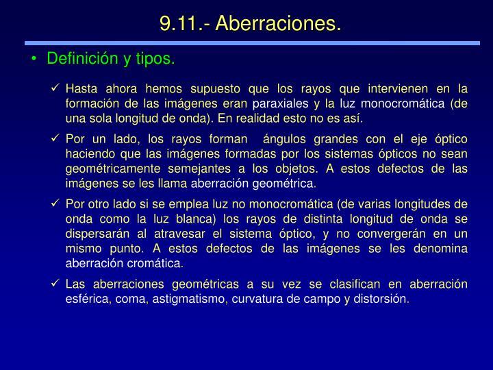 9.11.- Aberraciones.