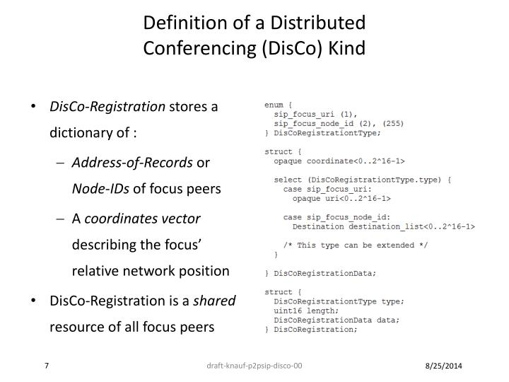 Definition of a Distributed
