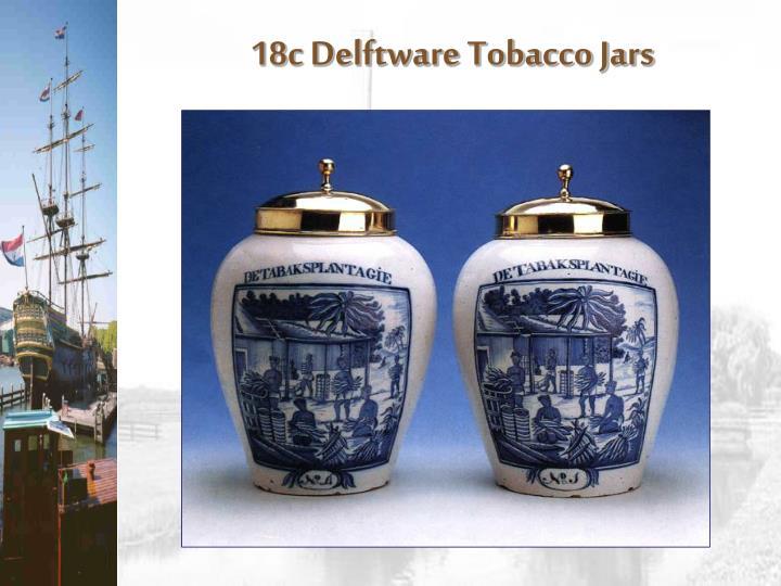 18c Delftware Tobacco Jars