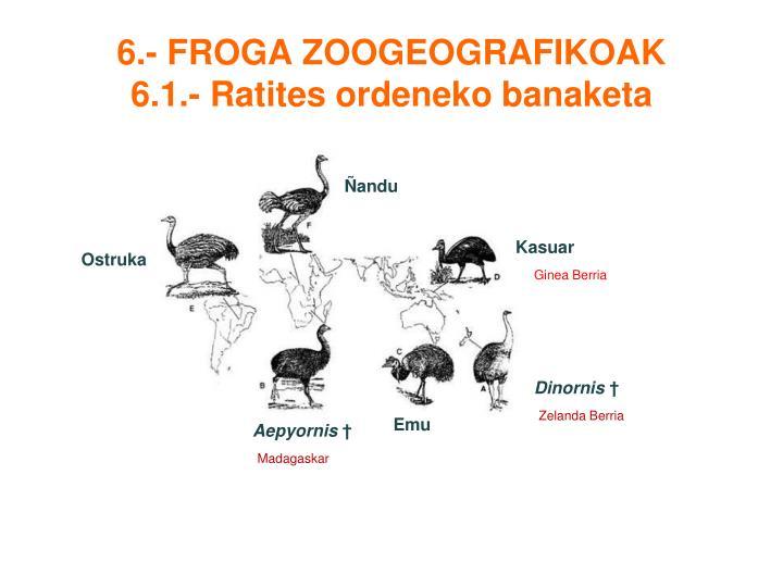 6.- FROGA ZOOGEOGRAFIKOAK