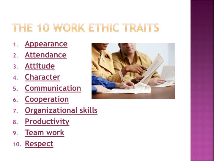 The 10 work ethic traits