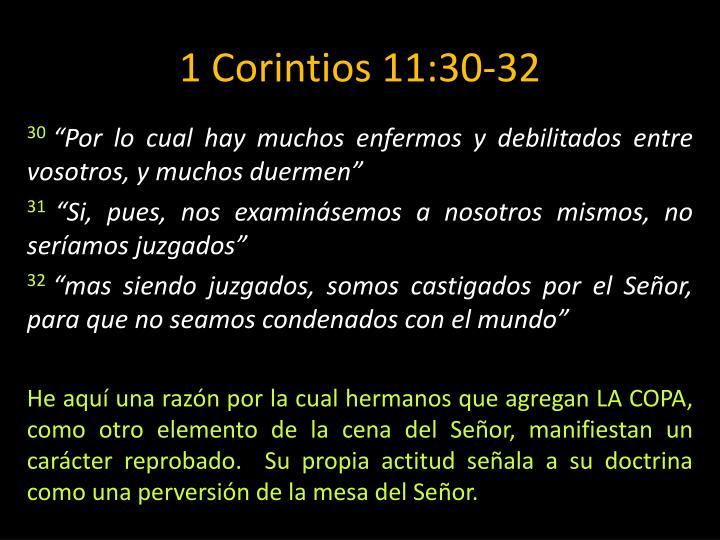 1 Corintios 11:30-32