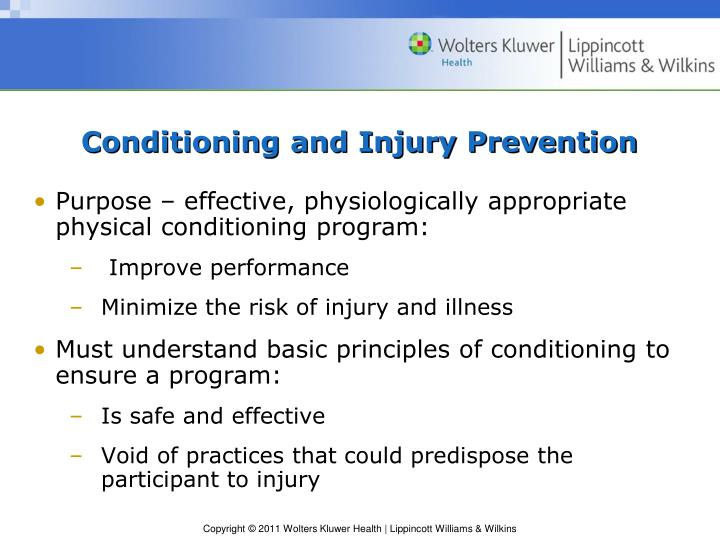 Conditioning and injury prevention