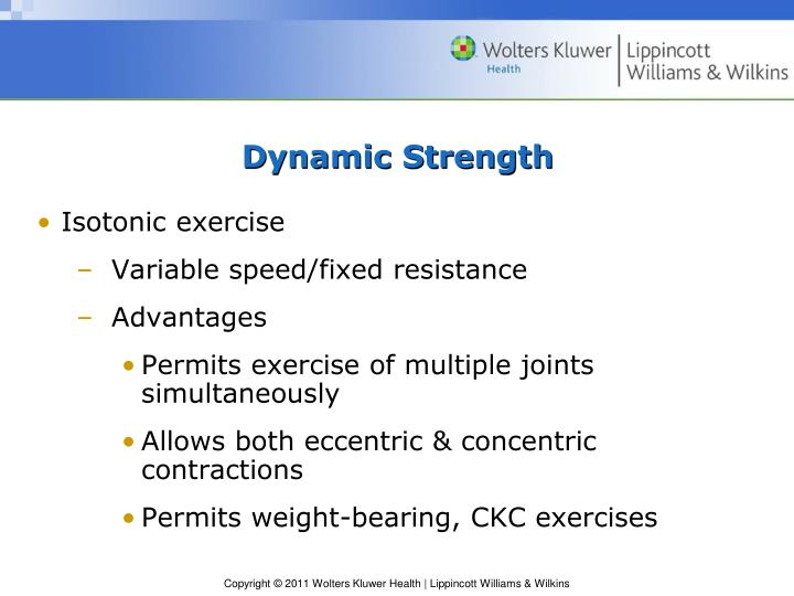 Dynamic Strength