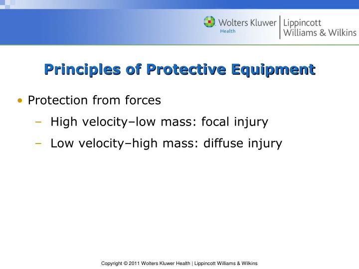 Principles of Protective Equipment