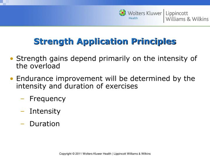 Strength Application Principles