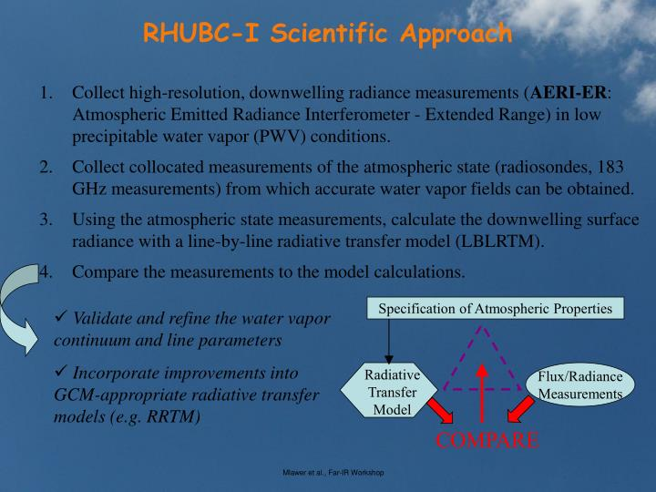 RHUBC-I Scientific Approach