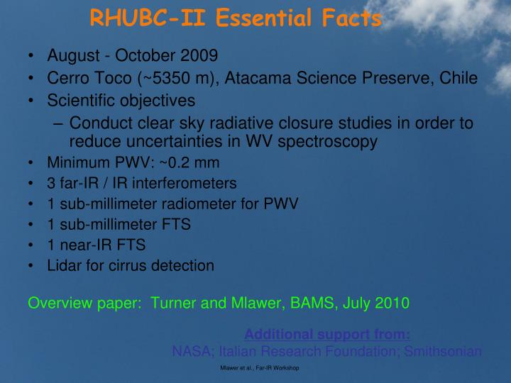 RHUBC-II Essential Facts