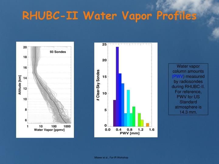RHUBC-II Water Vapor Profiles