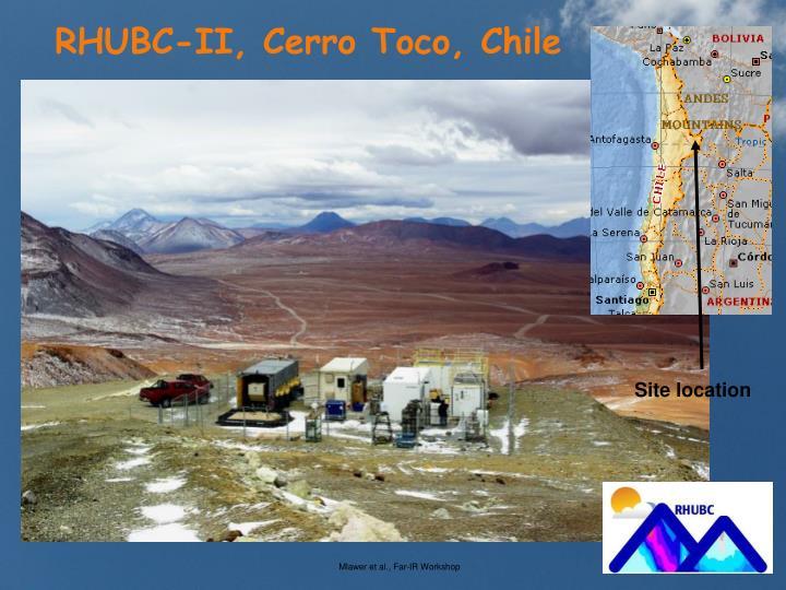 RHUBC-II, Cerro Toco, Chile