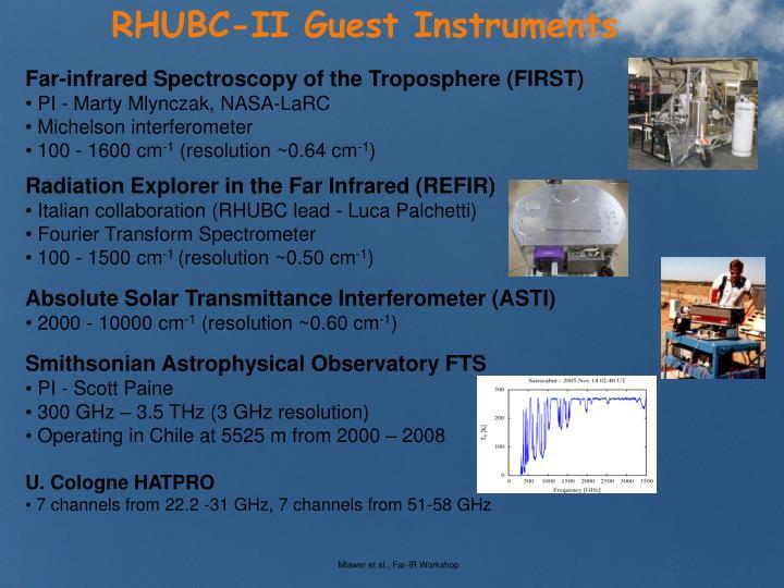 RHUBC-II Guest Instruments