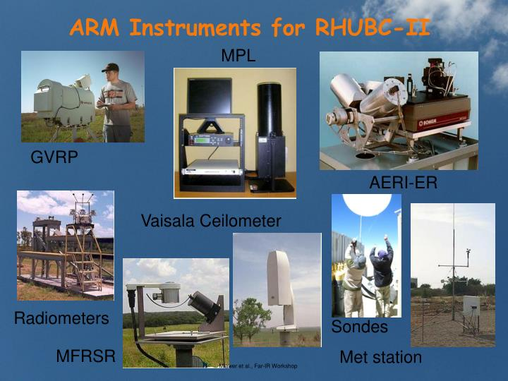 ARM Instruments for RHUBC-II