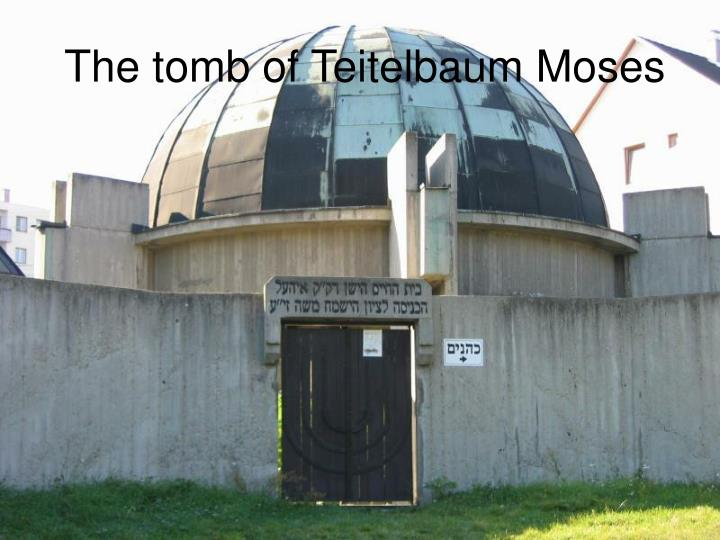 The tomb of Teitelbaum Moses