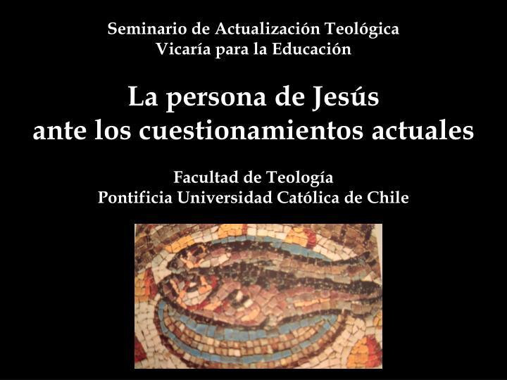 Seminario de Actualización Teológica