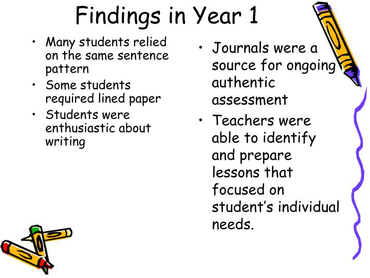 Findings in Year 1