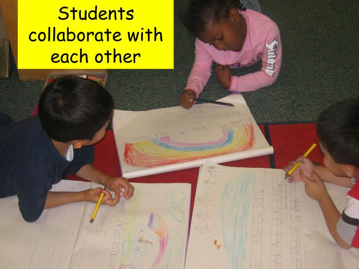 Students collaborate with each other