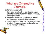 what are interactive journals