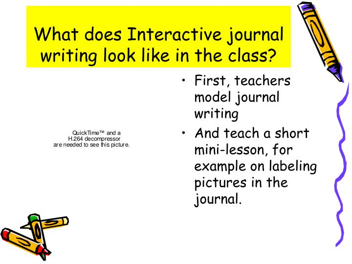 What does Interactive journal writing look like in the class?